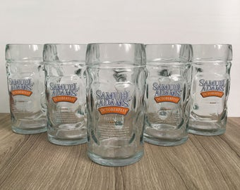 Samuel Adams Octoberfest Glass Beer Mugs - Set of 5