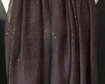 Brown glitter scarf