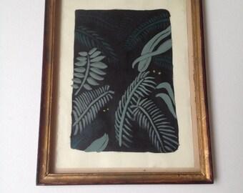 Framed artwork jungle plants original illustration green botanical life