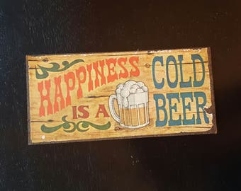 Vintage beer plaque/beer sign from the 1970's