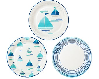 nautical paper plates From nautical-themed baby bingo to sailboat jello shots, here are 16 ideas  9  nautical hanging paper lanterns  11 blue baby whale plates.