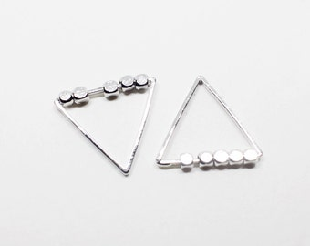 P0558/Anti-Tarnished Rhodium Plating Over Brass/Triangle Charm Pendant/15x15mm/4pcs