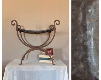 Vintage Iron Stool/Vintage Vanity Stool/Vanity Stool/Metal Bench/Metal Stool / Vanity Bench / Iron Bench/Industrial Bench / Industrial Stool
