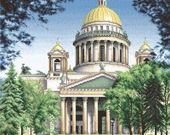 Cross Stitch Kit by Panna - St. Petersburg.  St. Isaac's Cathedral