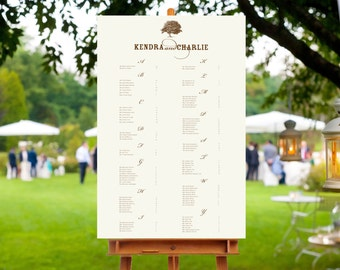 Wonderful Willlow Printed Seating Chart