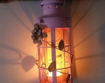 Shabby pink lantern.