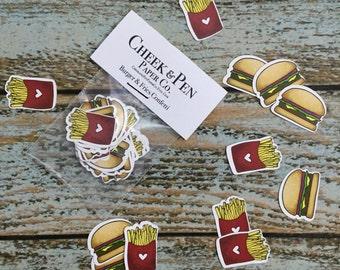 Burger & Fries Fast Food Confetti