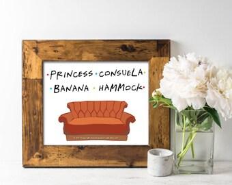 Friends tv show printable, Princess Consuela Banana Hammock print, Phoebe Buffay quote print, Friends printables, Friends sitcom prints