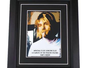 Kurt Cobain Quote Canvas Pop Art Print Framed Or Unframed
