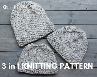 Knitting Pattern For Running Hat : Knit hat pattern Etsy