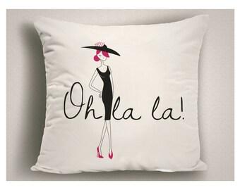 Paris Throw Pillow Oh La La, French Theme Pillows, Paris Decor, Paris Bedroom Decor, Frenh PIllow, French Decor, Gifts for Paris Lovers