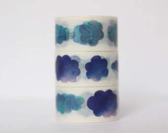 Design Washi tape clouds watercolor