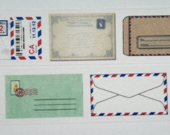 Washi tape postcard letter mail holiday