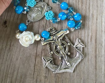 Nautical table top,coffee table rosary