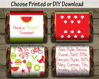 Teacher Summer Fun Candy Bar Wrappers - NUGGETS  - Print and deliver or DIY digital download!  Free SHIPPING!