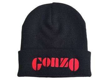 GONZO Beanie! Hunter S. Thompson inspired, fear and loathing, jounalism, ralph steadman, aspen, drugs culture