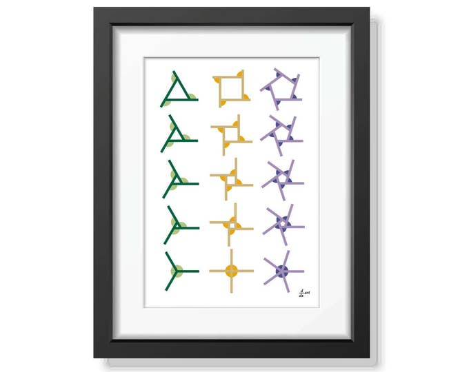 360 Mark 2 [mathematical abstract art print, unframed] A4/A3 sizes