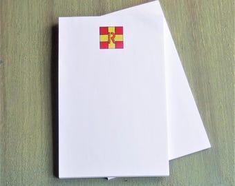 R nautical flag print