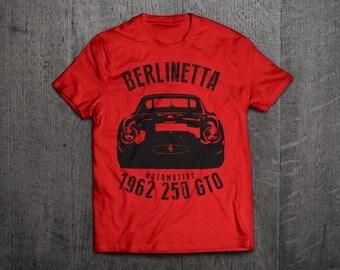 Ferrari 250 GTO shirts, Ferrari Berlinetta, Ferrari t shirts, Cars t shirts, men tshirts, women t shirts, 1962 classic Ferrari GTO t shirts
