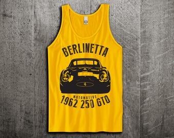 Ferrari Berlinetta GTO Tank Top, Classic Ferrari shirts, Vintage cars shirts, cars tanks, GTO shirts, Unisex Tank top, gym tanks Motomotive
