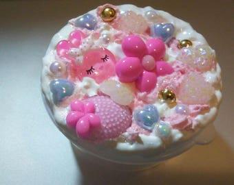 Kawaii Decoden Container - Dreamy Bunny Stash Box - Fairy Kei - Sweet Lolita - Trinket Box - Pastel Kawaii - Decor