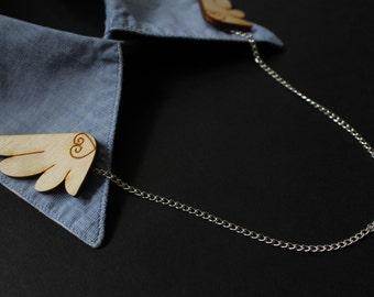 Wing Brooch/Wing Collar Brooch