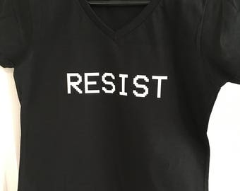 Resist ---- T-Shirt Punk Unisex Graphic Tee S M L XL Style Anarchy Shirt Design Teen Grunge Life Death Revolt Political T Shirt Equal Rights