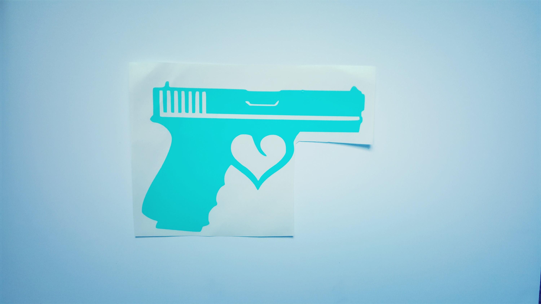 Girl Gun Decal Gun Vinyl Decal Gun Heart Decal Southern - Country girl custom vinyl decals for trucks