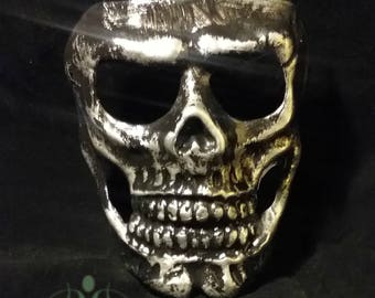 007 Skull Mask Day of the Dead Silver