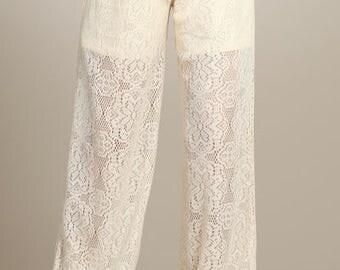 Lace Crochet Pants / LP-B006