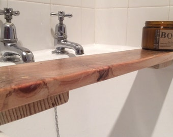 Reclaimed Wood Bath Tray Shelf Caddy- *In stock and ready to ship!