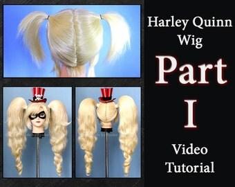 Harley Quinn Wig Video-Tutorial - PART I