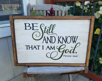 Be Still and Know Hand painted Wall Hanging
