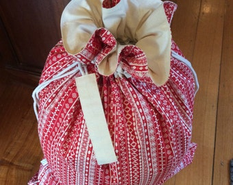 how to make a large santa sack