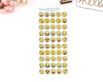 Smiley / emoji/ emoticon Planner stickers For use in ERIN CONDREN LIFEPLANNER ™, Happy Planner, Kikki K, Filofax