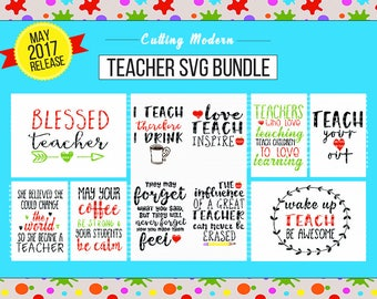 Teacher SVG Cut File Bundle - May 2017 Release - Silhouette Cameo Cricut Vinyl