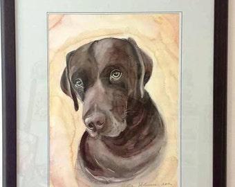 Watercolor pet portrait, watercolor painting, hand painted pet, Watercolor custom pet portrait, Custom gift pet lovers