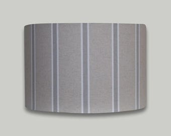 Grey White Stripe Drum Lampshade Lightshade Lamp Shade 20cm 25cm 30cm 35cm 40cm 50cm 60cm 70cm