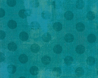 Moda Grunge Hits the Spot Quilt Fabric 1/2 Yard By Basic Grey Ocean 30149 31