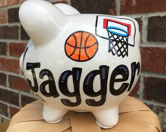 Personalized Sports Piggy Bank