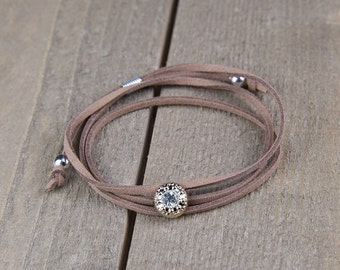 Matron of honor bracelets - coffee bracelet - wrap bracelet - handmade bracelet - will you be my matron of honor gift - Gifts under 20
