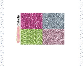32 Glitter Headers (Enchanted Collection)