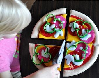 Pizza Pizza, Felt Pizza, Toy Pizza