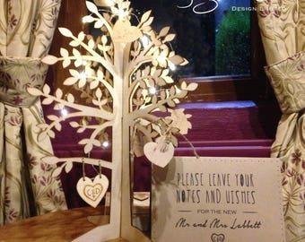 Rustic Wishing Tree Wedding Wish Guestbook Alternative Guest Book Keepsake