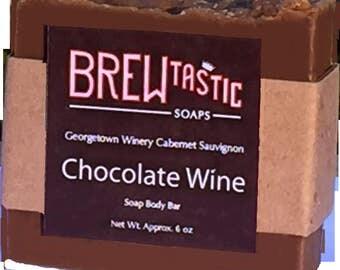 Chocolate Wine Soap Cabernet Sauvignon Red Wine Hersheys Women Clean Classy Grape Brown Handmade