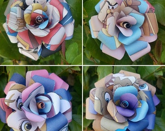 Beauty and the Beast Book Bouquets-Book lover gift-Book Bouquet-Book decor- Unique Gift- Bridal Bouquet- Paper Roses-Wedding- Valentines
