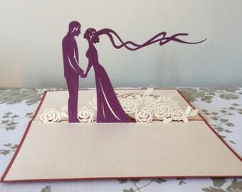 WEDDING VEIL Pop Up Card