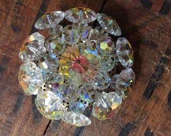 Clear Vintage Brooch