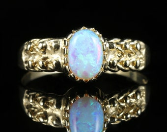 Opal Gold Ring 9ct Gold 0.70ct Opal