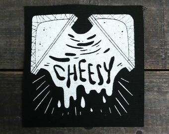 Grilled Cheese Sew On Canvas Patch